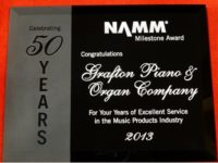 Grafton Piano & Organ 50 years